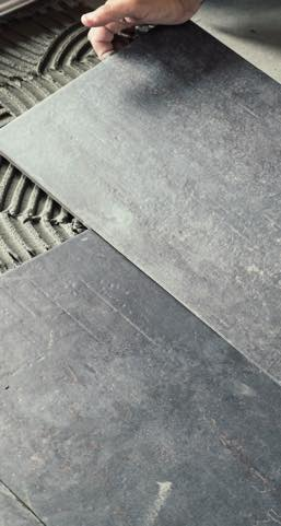 Tile installation | Hamernick's Interior Solutions