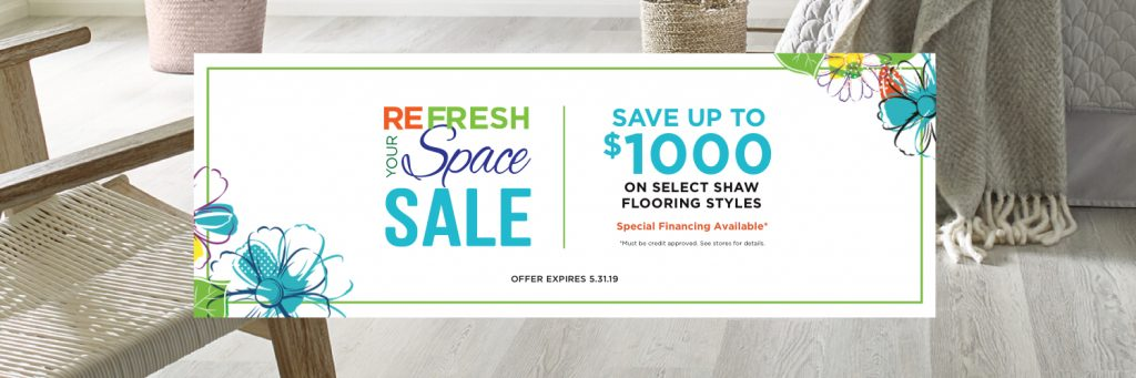 Refresh Your Space Sale | Hamernick's Interior Solutions