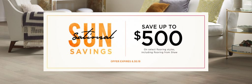 Sun Sational Savings | Hamernick's Interior Solutions