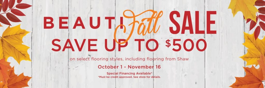 BeautiFALL Sale | Hamernick's Interior Solutions