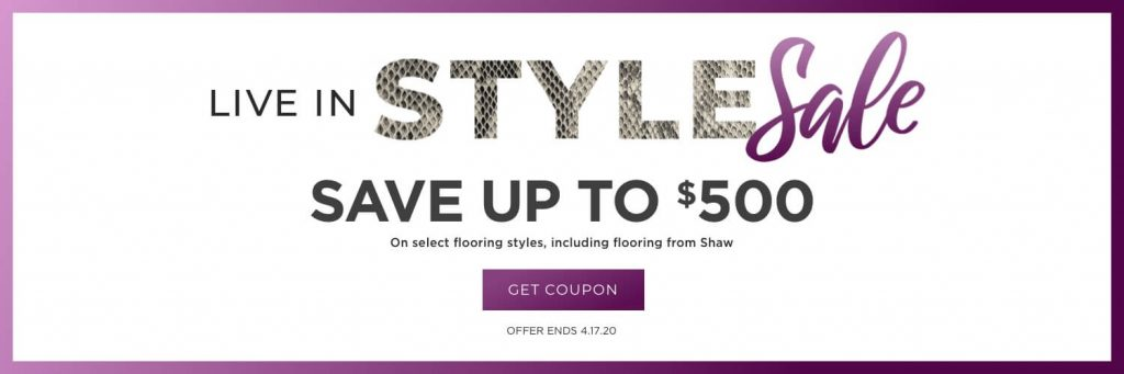 Live in Style Sale | Hamernick's Interior Solutions