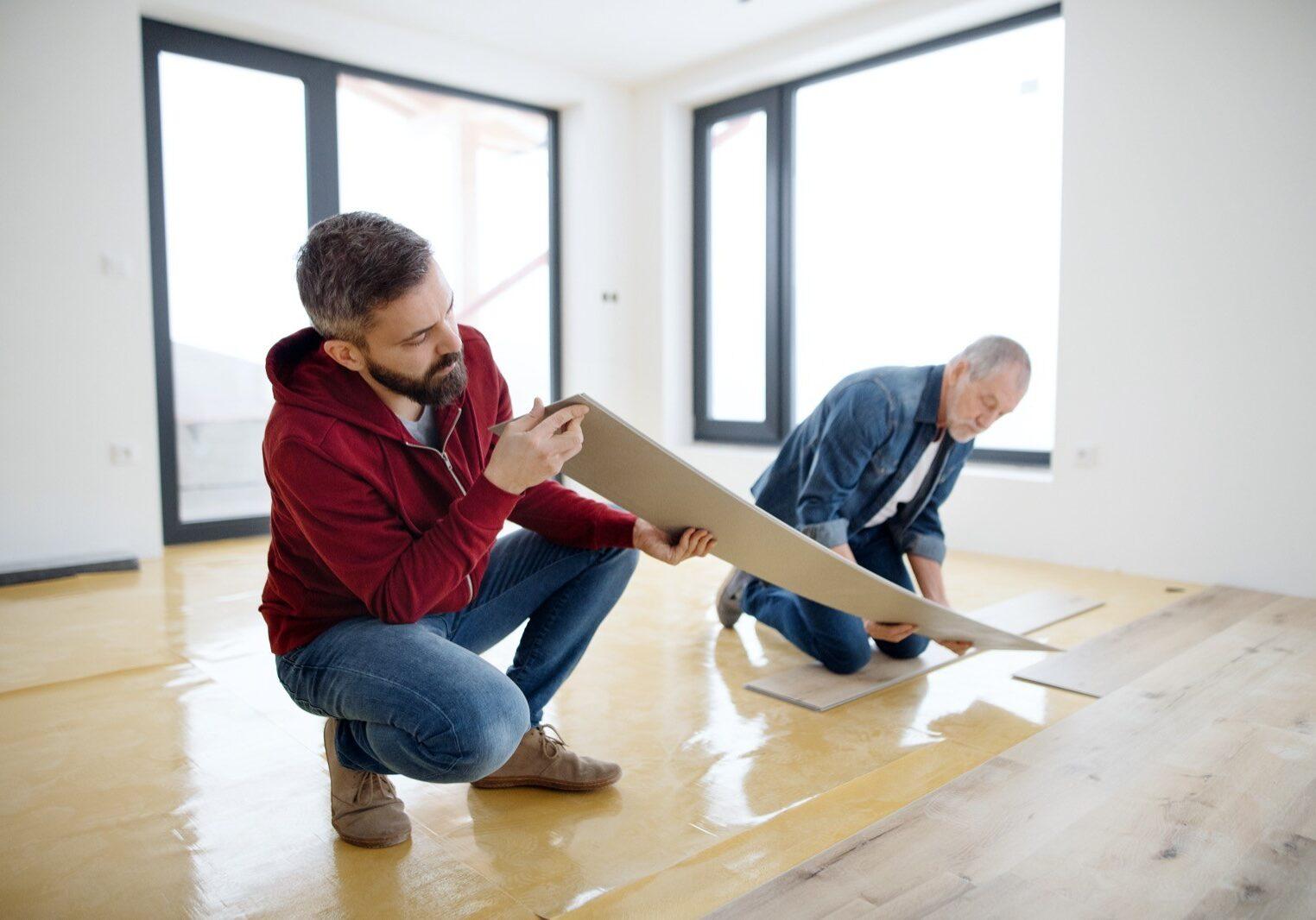 Vinyl flooring installation | Hamernick's Interior Solutions